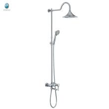 KH-07 2016 adjustable bath accessory bar sliding rail head hand shower set, luxury brass rain bath shower set with hand shower