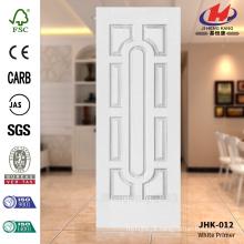 JHK-012 Rare Design superfície lisa de cozinha branca Primer Turquia HDF Mold porta pele popular em suíço
