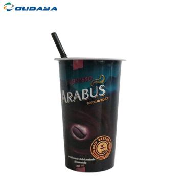 Tasse à café en plastique de 7 oz avec couvercle