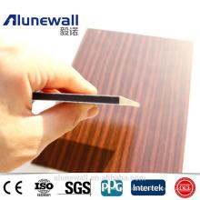 Alunewall 2017 best sell Wood Pattern Surface ACP panel fireproof aluminium composite panel wall decoation panels