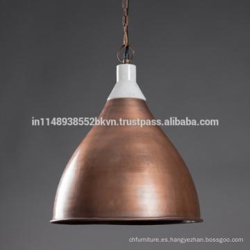 Lámparas colgantes de cobre vintage industriales
