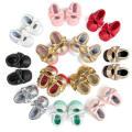 12 mocassins de mode bébé en bas âge bébé mocassins semelles souples anti-dérapant
