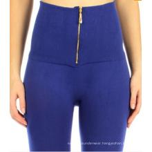 Ladies Seamless High Waist Zipper Fleece Leggings