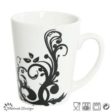 Porcelana blanca con la taza de café al por mayor de la etiqueta completa
