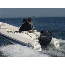 Design atraente, barco com reforço de fibra de vidro para motor mais vendido