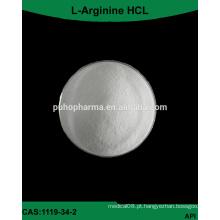 Fornecimento de fábrica GMP bulk l-arginine HCL Powder