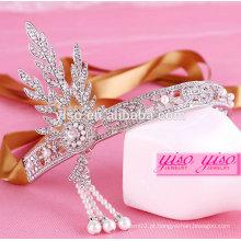 Acessórios de cabelo de moda princesa festa de aniversário tiara coroa