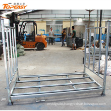 Galvanized foldable and stackable commercial storage metal truck tyre racking
