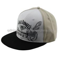 Flat Bill Print Embroidery Snapback Sport Baseball Hat (TMFL1303-2)