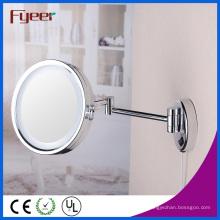 Fyeer Single Side Espelho de Maquilhagem em Latão Dobrável com Luz LED