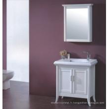 Meuble-lavabo en bois blanc (B-329)