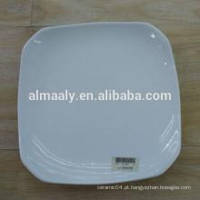 placa de porcelana quadrada branca de alta qualidade para frutas e alimentos