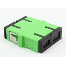 Sc / APC Siglemode Duplex Adaptador de fibra óptica con brida