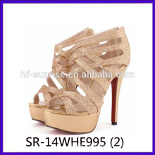 golden ladies high heel shoes sexy modern high heel shoes china wholesale high heel shoes