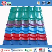 Hoja de techo corrugado de acero inoxidable de China