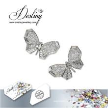 Schicksal Schmuck Kristalle von Swarovski Ohrringe Schmetterling Ohrringe