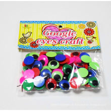olhos plásticos de brinquedos de pelúcia com cílios, movendo os olhos googly de brinquedo