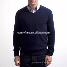 Hot Selling Fit Warm Men Camisola de caxemira pura