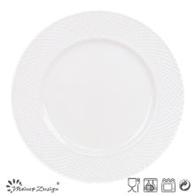 27cm Porcelain Dinner Set Embossed Design