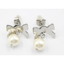 Bijoux fantaisie 316L en acier inoxydable et boucles d'oreilles perle