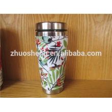 Food grade double wall ceramic travel mug travel coffee mug made in china