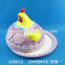 Lovely cock ceramic kitchen bread plate