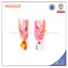 RJL002 china wholesale alibaba vertical saltwater jigging lure with rubber skirt