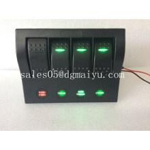 4 Gang LED Light 12V / 24V Waterproof LED Marine Rocker Switches Panel
