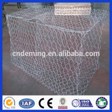 PVC/PE Coated Hot Dipped Galvanized hexagonal woven gabion box with wholesale price