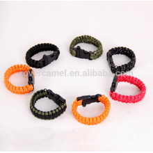 Rover chameau plein air corde anti-reflet longe sauvetage d'urgence Bracelet travail 9-cores Bracelet de survie