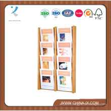 3 Tiered Wall Mounted Wood Literature Holder