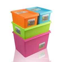HYYX Wholesale durable reusable plastic stacked moving storage boxs with attached lids