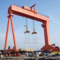 grúa pórtico para construcción naval con neumáticos de caucho