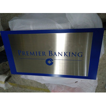 Clear Customized Different Shapes Stainless Steel Plaque