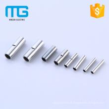 Conector de botão de cabo de tubo de cobre não isolado, terminais de cabo