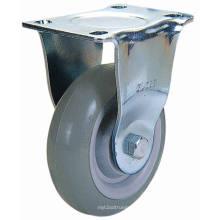 Roulette en PU fixée à usage moyen pour usage industriel (Gris)