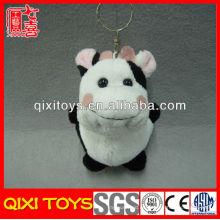 Llavero al por mayor de la vaca del juguete de la felpa del juguete suave de la vaca