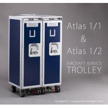Convenient aircraft travel meal inflight food trolley for food drink service