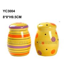 Ceramic Hand Painted Salt & Pepper Shaker Set