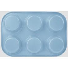 Farbige Beschichtung 6cups Muffin pan