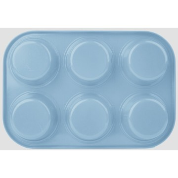 Colorful coating 6cups muffin pan
