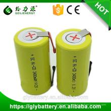 Batería recargable de SC 1.2V 3400mAh NI-CD para la luz de la antorcha
