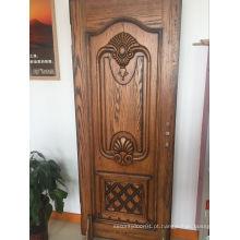 Design clássico porta de madeira sólida