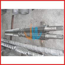 80/156 Konische Doppelschnecke und Zylinder für PVC-Platte