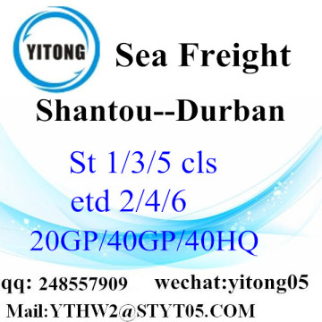 Express internationale service van Shantou naar Durban