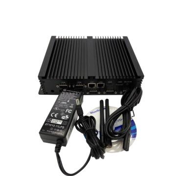 Ordinateur de bureau PC Fan Mini industriel Celeron 1037u avec double port RJ45 et 4 port RS232