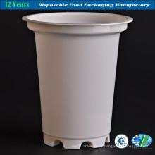 Taça de plástico leitoso em cor branca