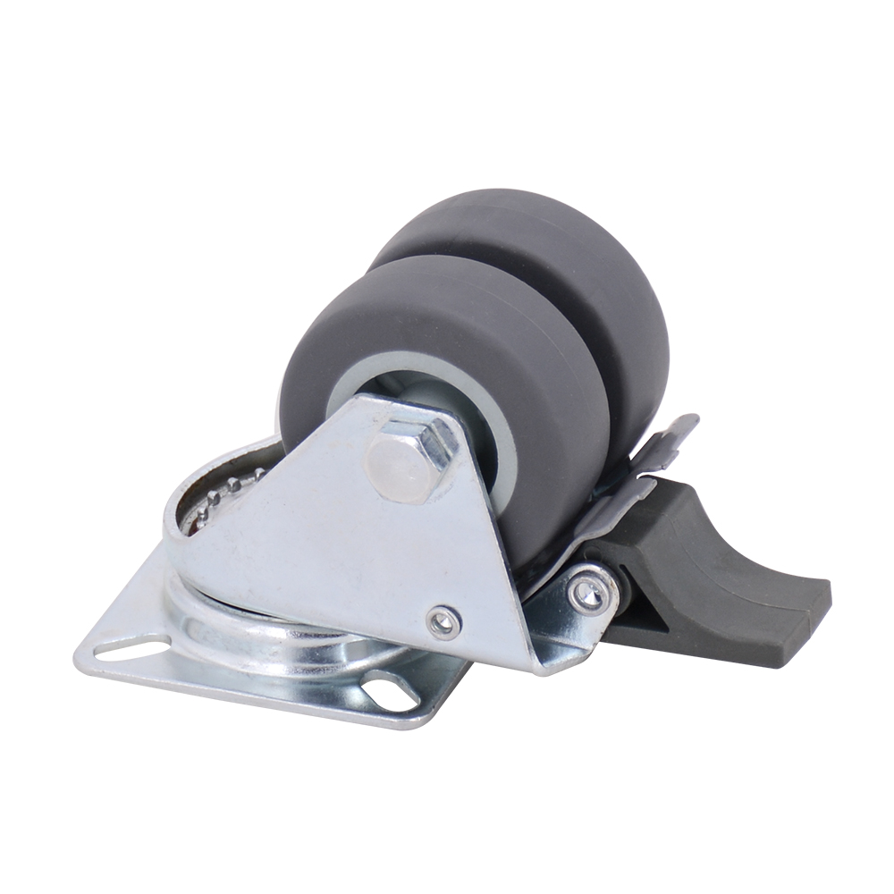 Gray 2 Inch Double Wheel Caster