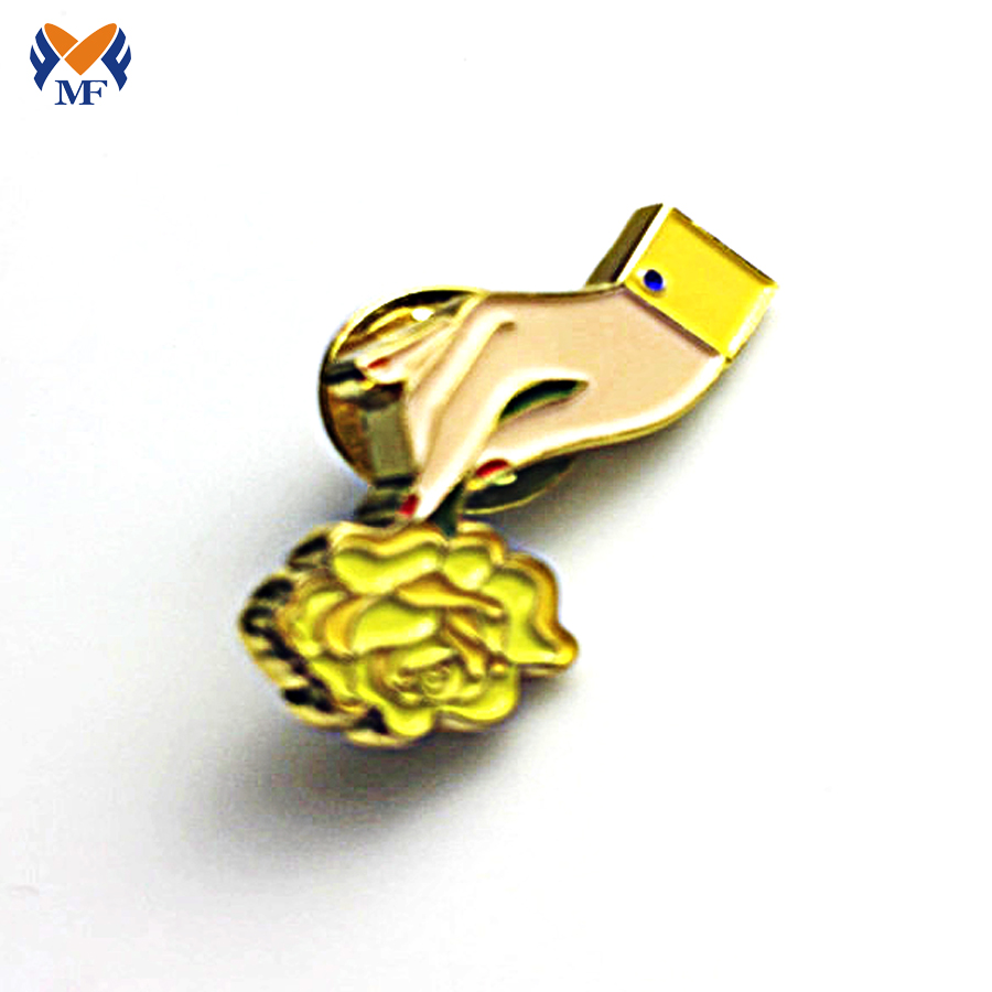 Finger Pin Badge