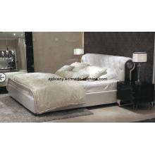 Maison de Style post-moderne meubles chambre lit doux en cuir (LS-412)